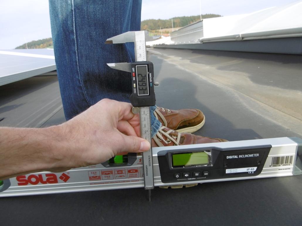 Messung der Einsinktiefe